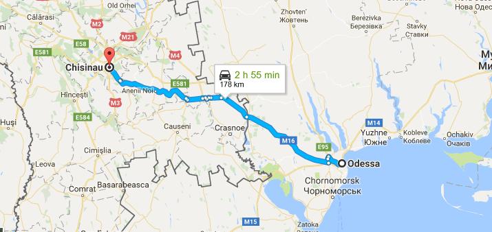 такси Одесса - Кишинев