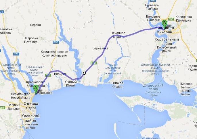 такси Одесса - Николаев, междугороднее такси, межгород