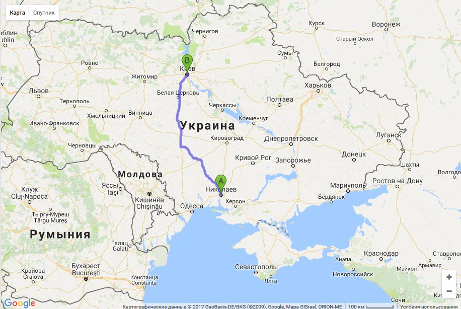 такси Николаев - Киев межгород